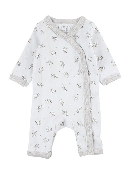 Organic Cotton Blue Bee Print Sleepsuit (1.5-3.5lb, 3-5lbs & 4.5-6.5lbs)