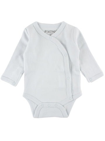 Organic Cotton Blue Long Sleeve Vest (1.5-3lb & 3-5lb)