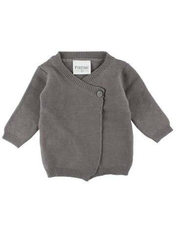 Organic Cotton Grey Wrapover Cardigan  (1.5-3.5lb & 3-5lb)