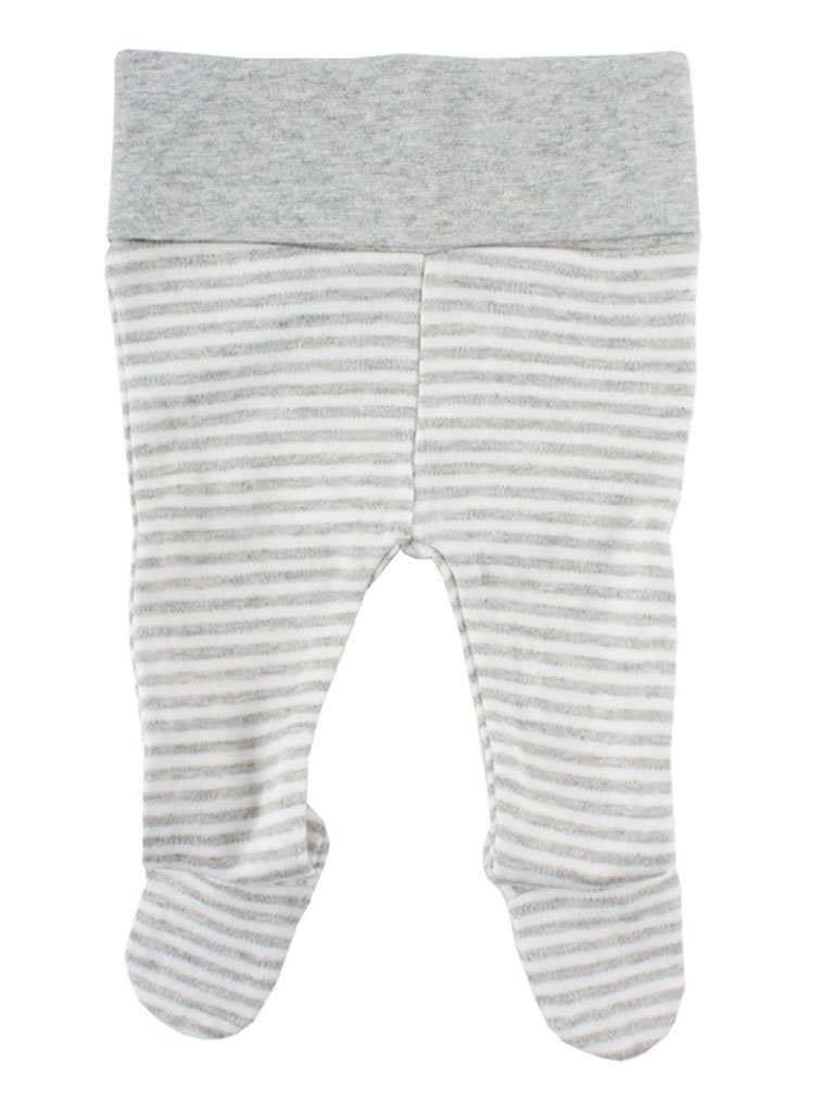 Organic Cotton Grey/White Stripe Footed Trousers - 2 Sizes (1.5-3.5lb & 3-5lb)