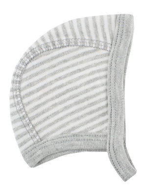 Organic Cotton Grey/White Stripe Bonnet (1.5-3lb & 3-5lb)