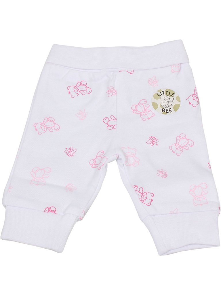 Organic Cotton Pink Bee and Bear Trousers (1.5-3.5lb and 3-5lbs)