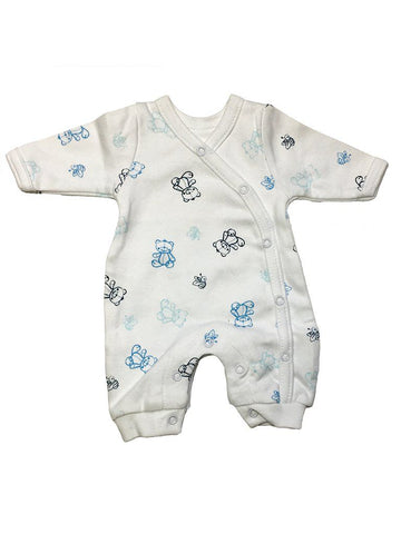 Organic Cotton Blue Bee and Bear Sleepsuit (1.5-3.5lb and 3-5lbs)