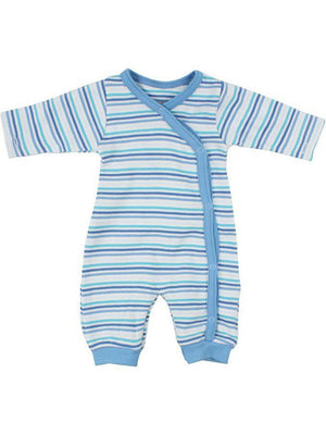 Organic Cotton Blue Bold Stripe Sleepsuit (1.5-3.5lb and 3-5lbs)