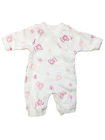 Organic Cotton Pink Bee and Bear Sleepsuit (1.5-3.5lb and 3-5lbs)