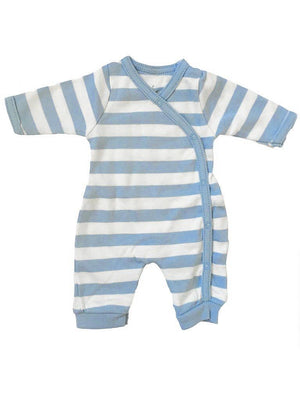 Organic Cotton Thick Blue Stripe Sleepsuit (1.5-3.5lb and 3-5lbs)