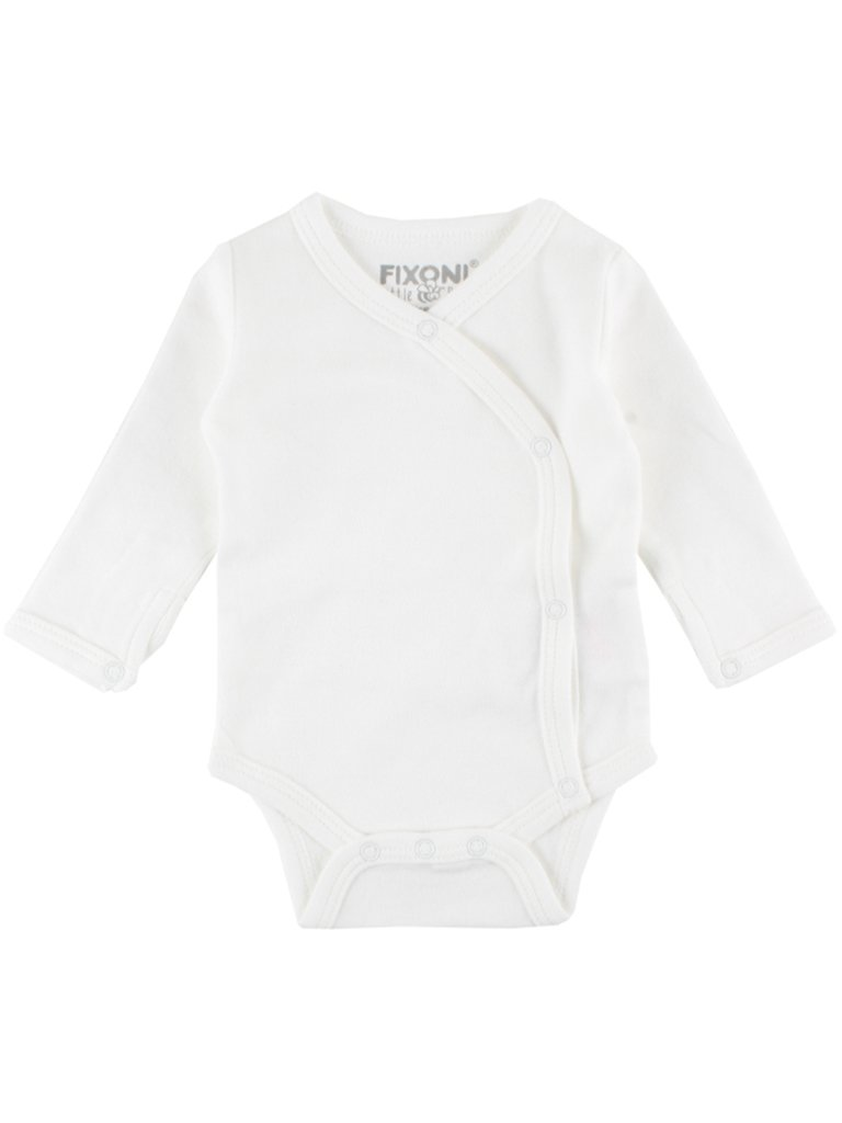 Organic Cotton White Long Sleeve Vest - 2 Sizes (1.5-3.5lb & 3-5lb)