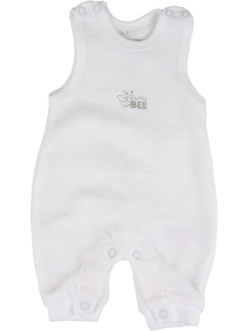 Fixoni Velour White Dungaree (3-5lb)