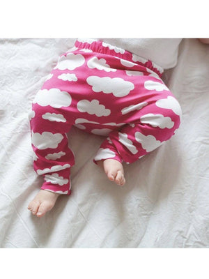 Pink Cloud Print Baby Leggings, Fred & Noah - Tiny Baby