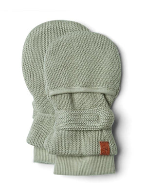Stay-On Scratch Mittens - Khaki Knit (0-3 months) - Scratch Mitts - Goumikids