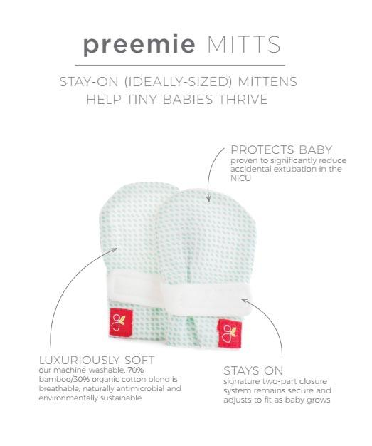 Micro-premature baby scratch mittens