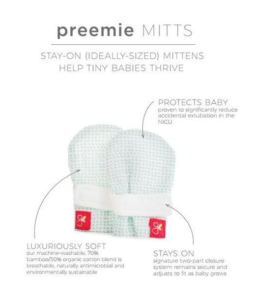 Prem Stay-On Scratch Mittens - Diamond Dots (3-6 lbs)