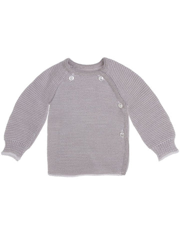 Knitted Grey Cardigan 3-5lb, 5-7lb & 0-3 months