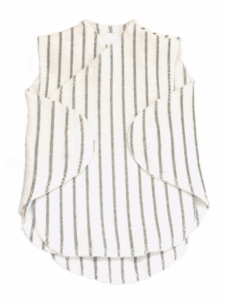 Premature Baby Incubator Vest - Grey and White Stripe - Incubator Vest - Little Mouse - Little Mouse Baby Clothing & Gifts