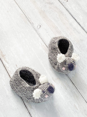 Crochet Koala Bear Booties (0-6 Months)