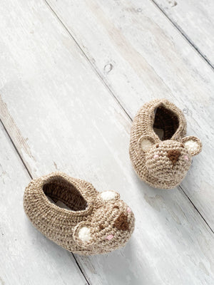 Crochet Teddy Bear Booties (0-6 Months)