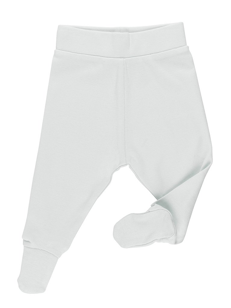 GOTS Certified Organic Grey/Blue Footed Trousers (Newborn 7-9lb)