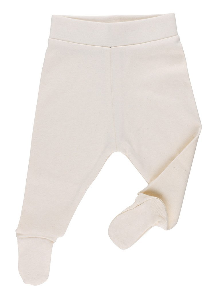 Natural Footed Trousers - Organic  (Tiny Baby, 4-7lb)