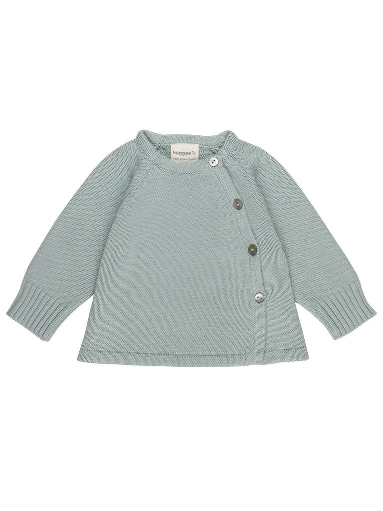 Blue Knitted Cardigan - Organic (Tiny Baby)