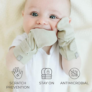 Stay On Anti-Scratch Mittens - Diamond Dots (0-3 Months)