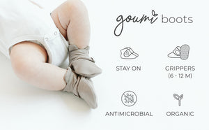Stay-on Premature Baby Boots, Mist Grey (3lb-6lb) - Booties - Goumikids