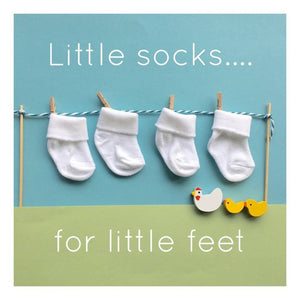 Premature Baby Socks, 3-5lb & 4-7lb - White