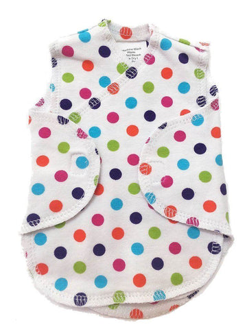 Premature Baby Incubator Vest - Bright Spotty