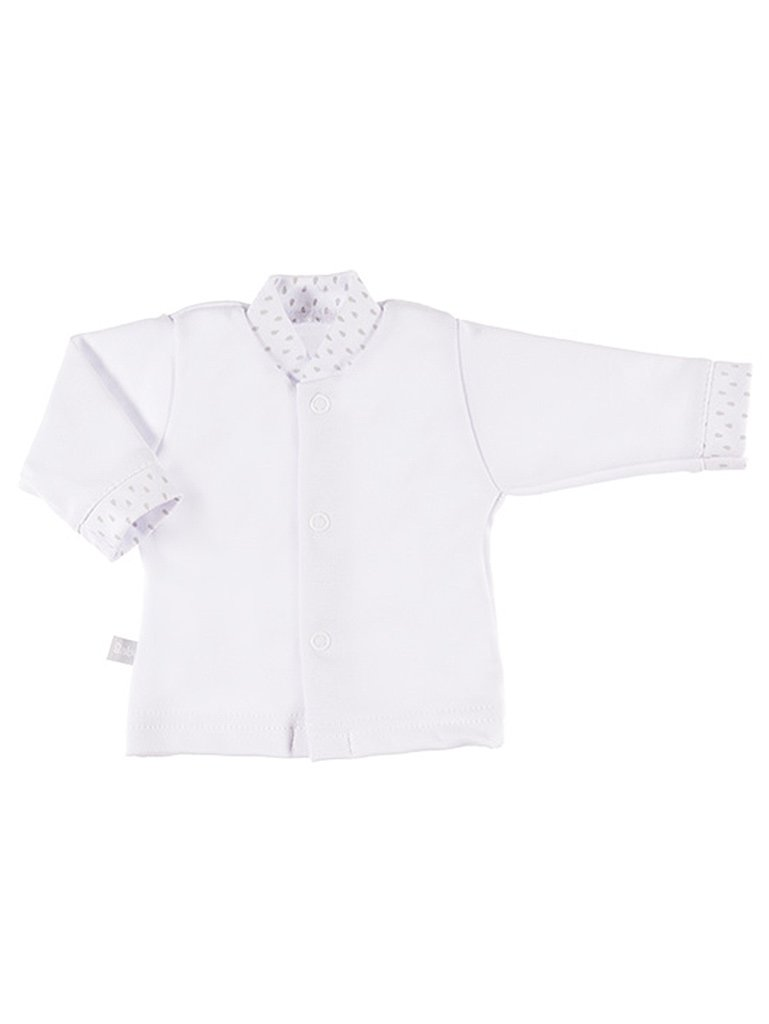 Early Baby Long Sleeved Top, White (3-5lb & 5-8lb)