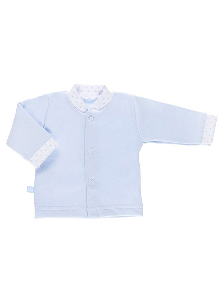Early Baby Long Sleeved Top, Blue (3-5lb)
