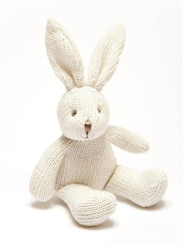 White Bunny Rattle: Fairtrade and Organic