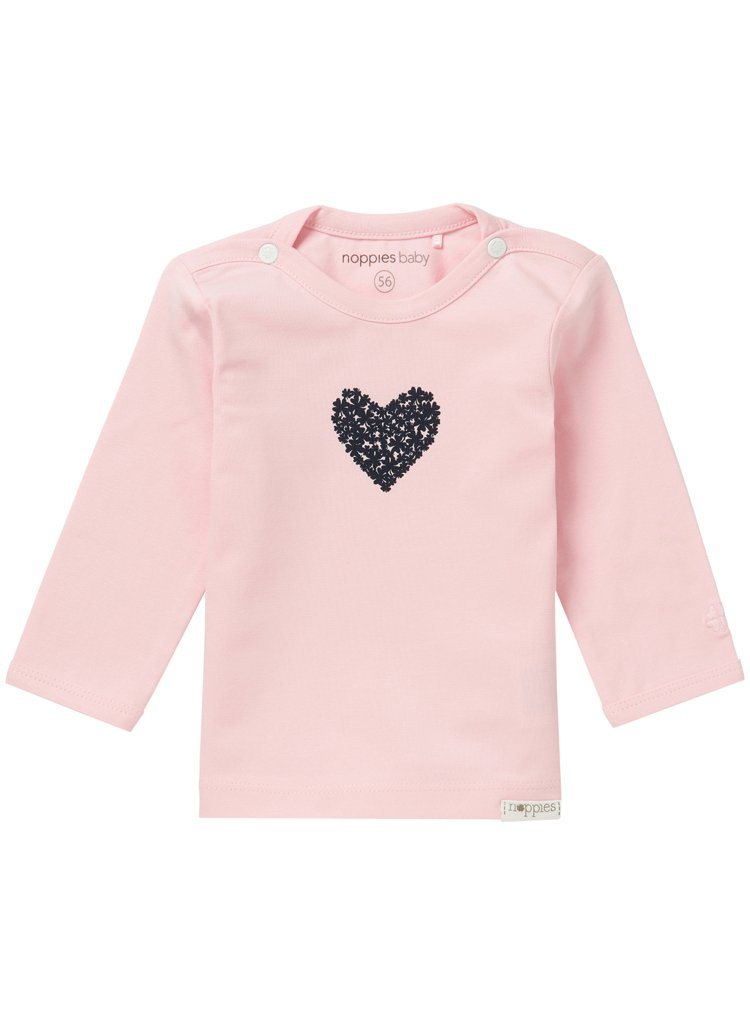 Light Rose Top With Heart (Tiny Baby Size, 4-7lb)