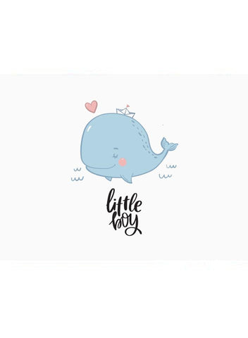 Little Boy, Whale - New Baby Card