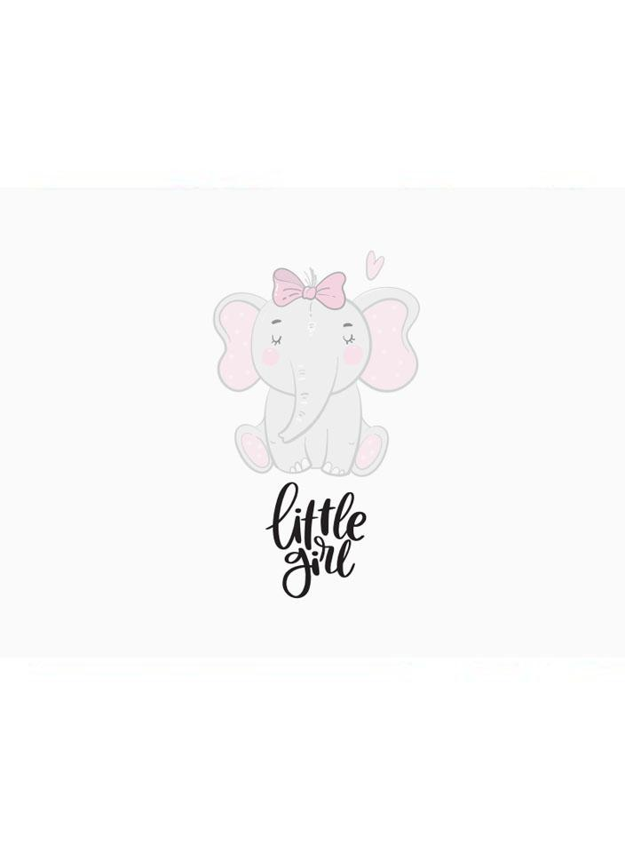 Little Girl, Elephant- New Baby Card