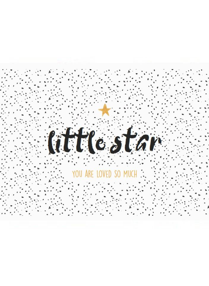 Little Star - Baby Card