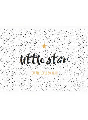 Little Star - Baby Card - New baby card - Little Mouse Baby Clothing & Gifts