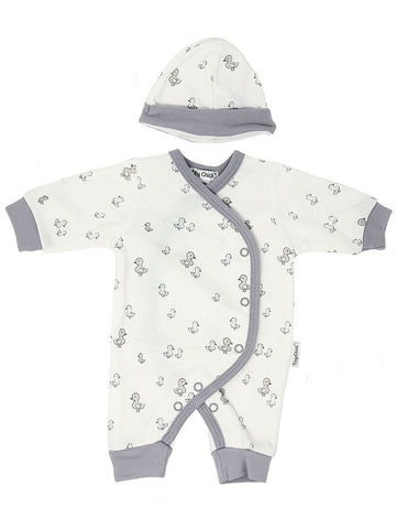 Grey Duck Design Sleepsuit & hat 3-5lbs & 5-8lbs