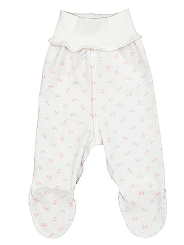 Pink Bow Footed Reversible Trousers (3-5lbs)