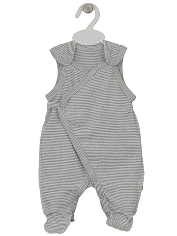 Grey and White Stripe Wrap Dungaree 3-5lbs
