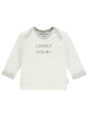Organic Cotton 'Lovely You' Slogan Top - Tiny Baby Size (4-7lb)