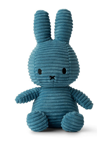 Miffy Corduroy Plush Toy - Aviator Blue