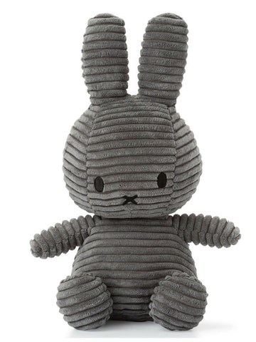 Miffy Corduroy Plush Toy - Grey