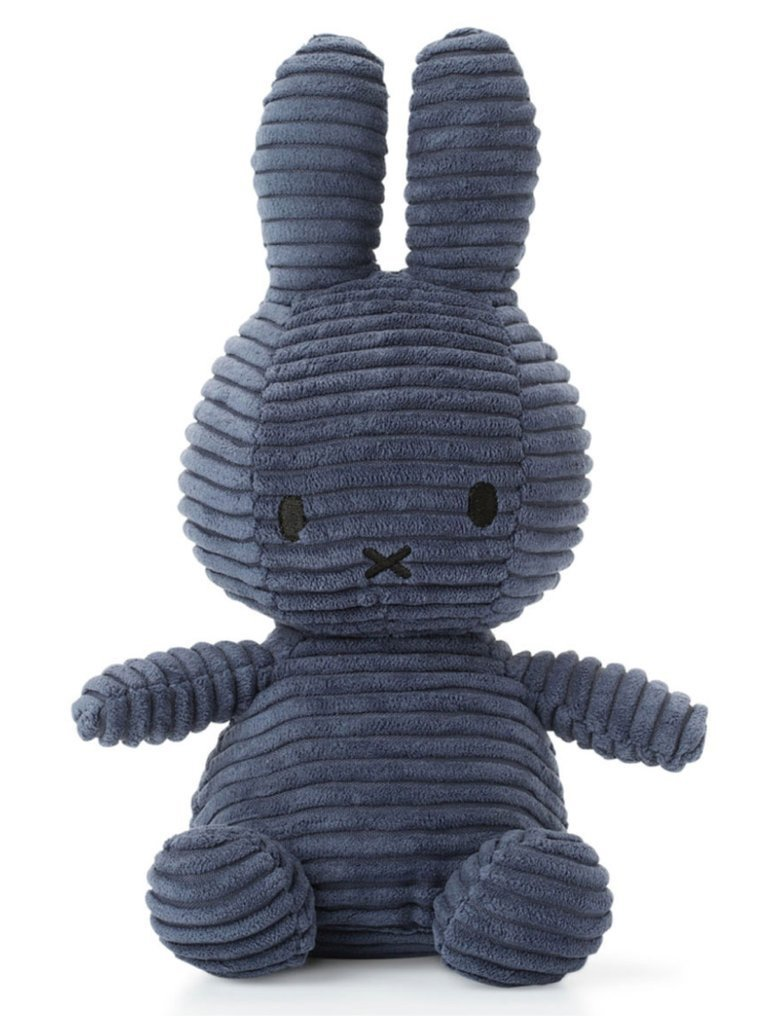 Miffy Corduroy Plush Toy - Navy