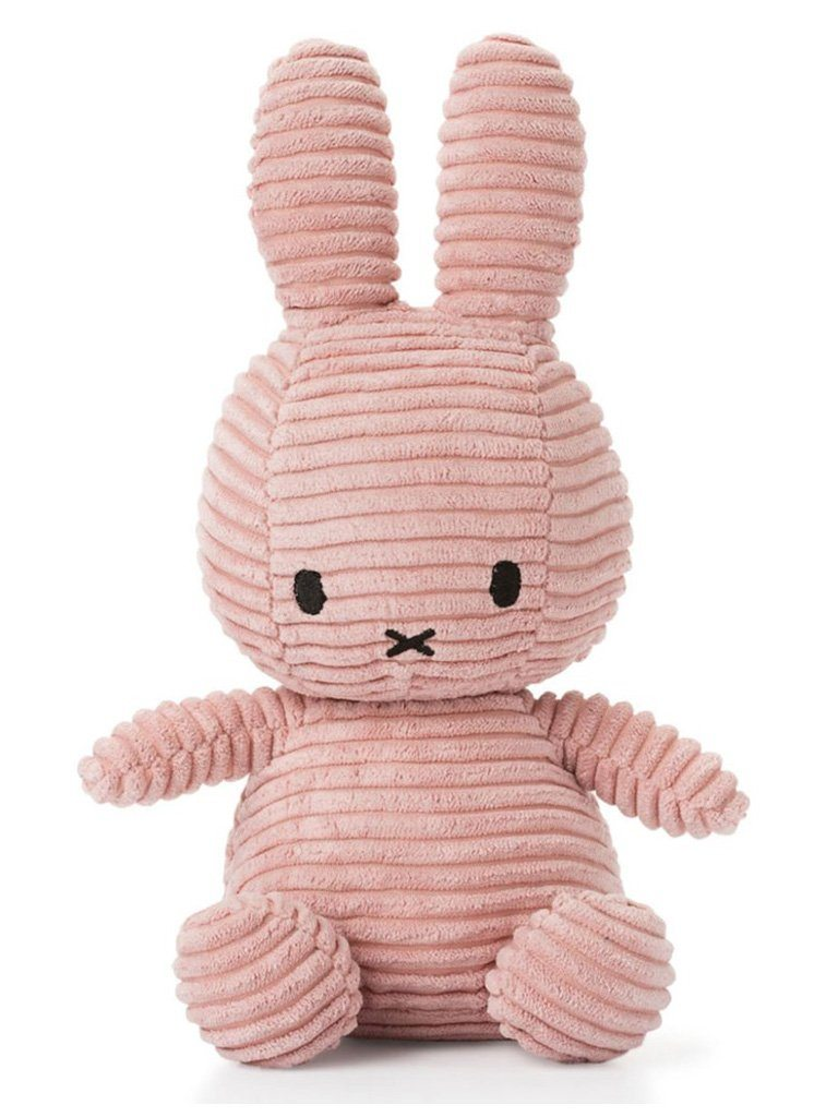 Miffy Corduroy Plush Toy - Pink Blush