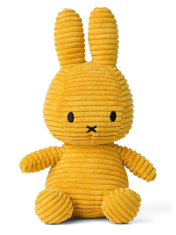 Miffy Corduroy Plush Toy - Mustard