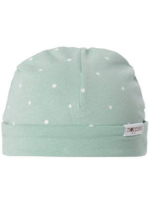 Grey-Mint Star Hat - Reversible (Tiny Baby, 4-7lb)