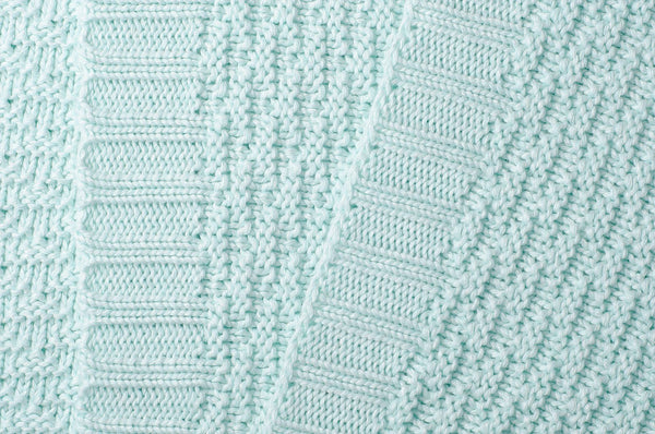 Super Soft Mint Bamboo/Cotton Blanket - 70 x 60cm