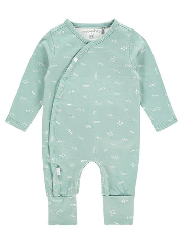 Mint Green Integrated Scratch Mitts and Socks Sleepsuit - Tiny Baby, 4-7lb