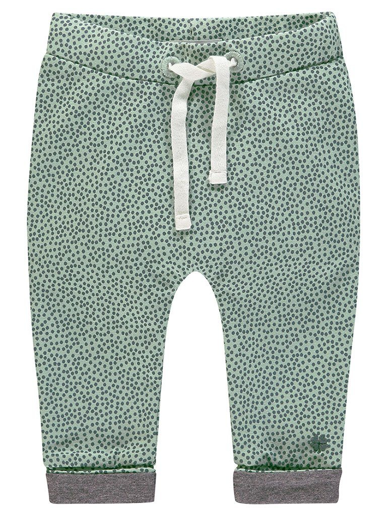 Organic Cotton Trousers - Mint Spotty (Tiny Baby)