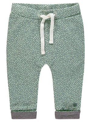 Organic Cotton Trousers - Mint Spotty (4-7lb)