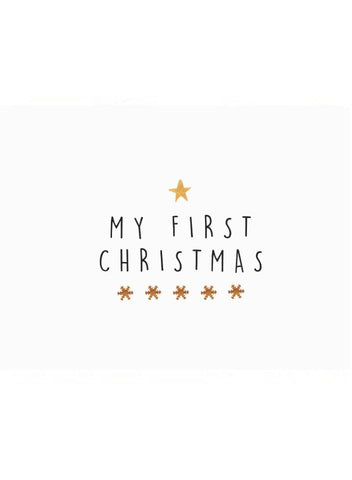 My First Christmas, Baby Card
